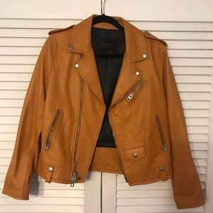 Authentic Coach Leather Moto Jacket